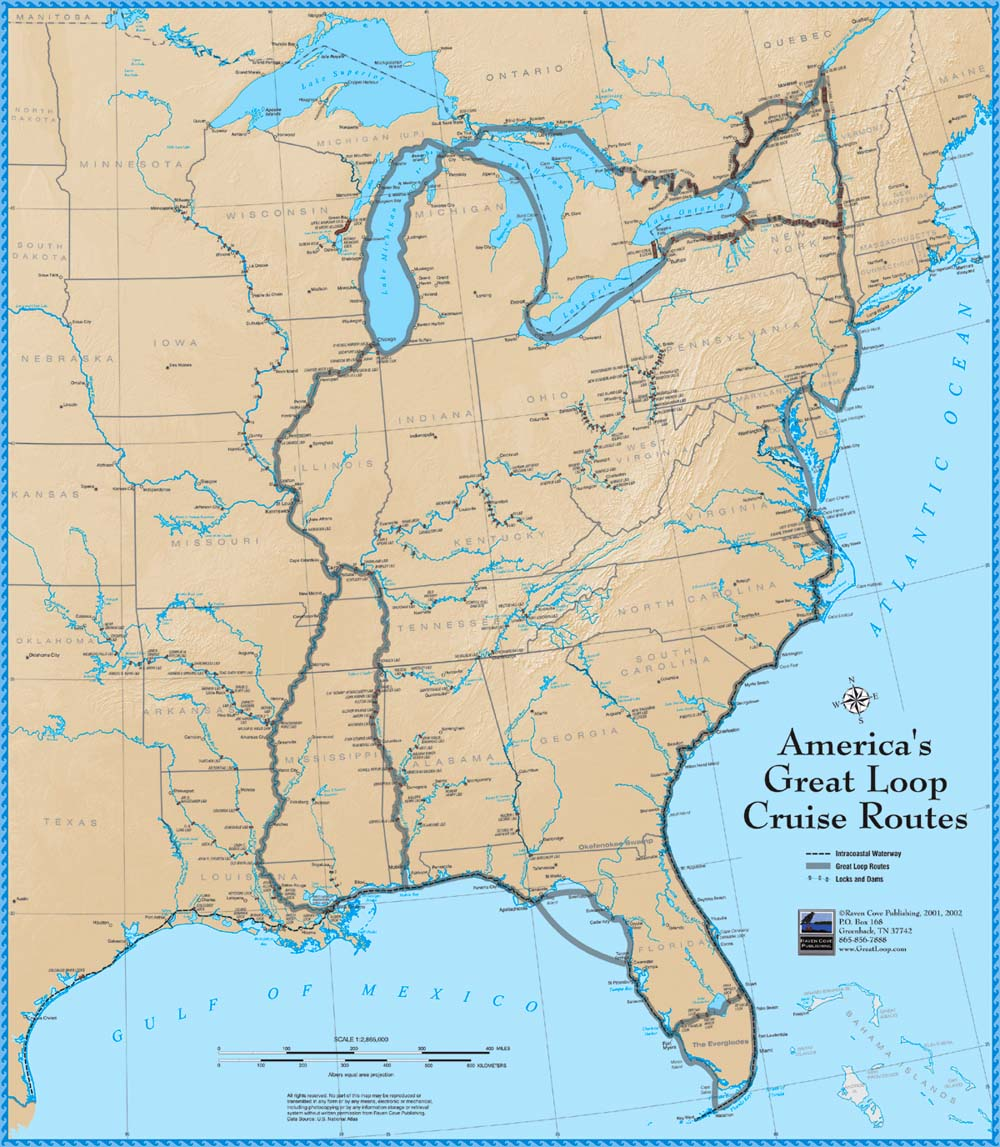 Americas Great Loop KATIE AND JESSIE ON A BOAT - Us waterways map
